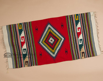 "Mexican Indian Zapotec Rug- 30""x60"""
