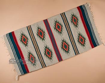 "Southwest Zapotec Indian Rug 30""x60"" - 4"
