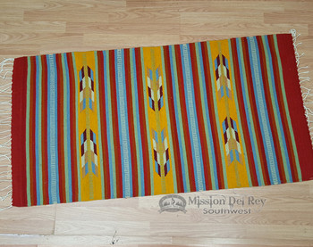 "Southwestern Zapotec Indian Rug 30""x60"""