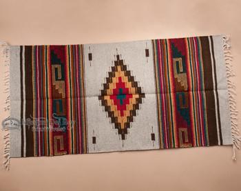 "Southwest Zapotec Indian Rug 30""x60"" (52)"