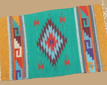 "Southwest Zapotec Rug Wall Hanging 23""x39"""