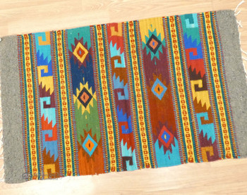 Handwoven Wool Zapotec Rug