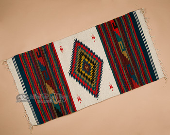 Southwestern Zapotec Indian Rug 30x60 (68)