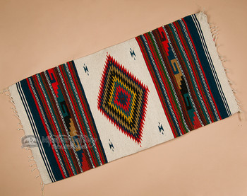 Southwestern Zapotec Indian Rug 30x60 (72)