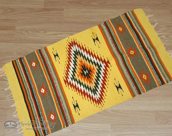Southwestern Zapotec Indian Rug 30x60