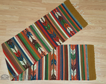 """Zapotec Indian Southwest Table Runner 15""""x80"""""""