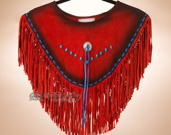 Red Leather & Turquoise Dance Shirt