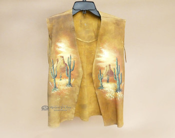 Leather Dance Shirt with Southwest Painting