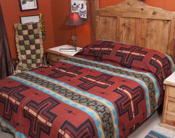 Southwestern Rust Bedspread
