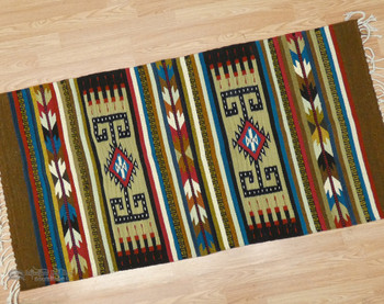 Hand Woven Extra Fine Zapotec Rug