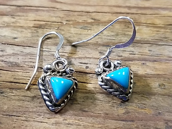 Silver and Turquoise Navajo Earrings