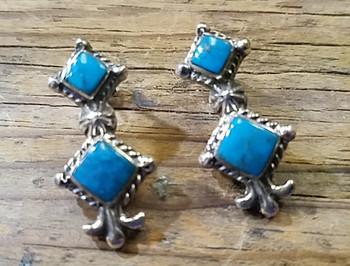 Sterling Silver Navajo Earrings