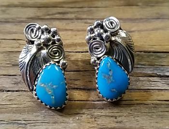 Navajo Silver & Turquoise Earrings