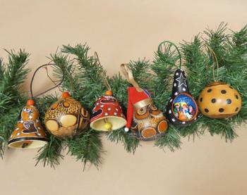 6 Piece Christmas Gourd Ornament Set