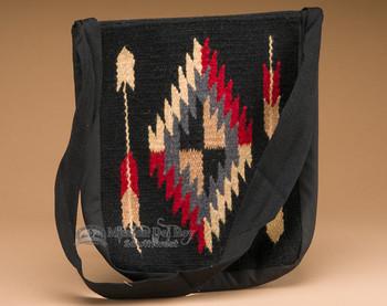 Southwestern Wool Tote - Black