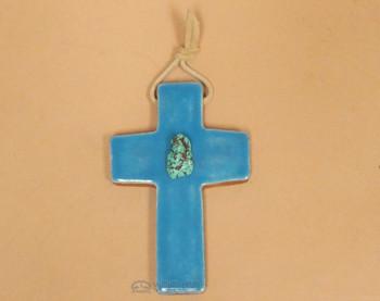 Southwestern Glazed Tile Cross