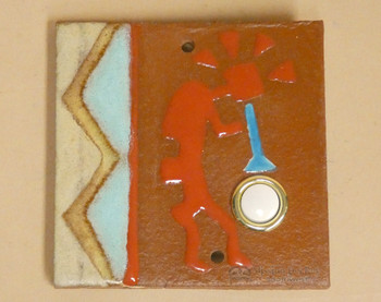 Saltillo Tile Doorbell -Kokopelli
