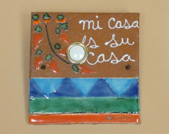 Hand Painted Saltillo Doorbell -Mi Casa