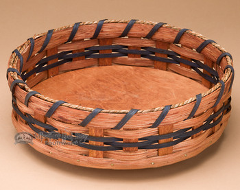 Lazy Susan Amish Basket - Blue