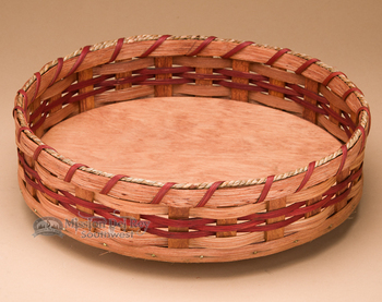 Lazy Susan Amish Basket - Red