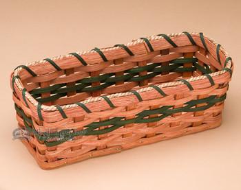 Handcrafted Amish Cracker Basket - Olive