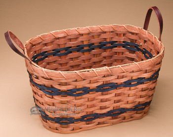 Child Size Amish Laundry Basket - Blue