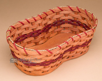 Handmade Amish Basket - Double Flower Pot