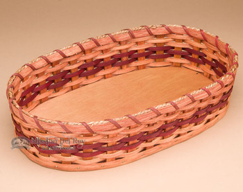 Handmade Amish Basket - Red