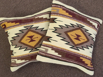 Southwest Pair of Wool Pillow Covers 18x18 - Cheyenne