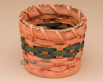 Small Handmade Amish Gift Basket - Multi