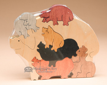 Handcrafted Amish Jig Saw Puzzle -Pigs