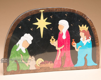 Handcrafted Amish Jig Saw Puzzle -Nativity Wise Men