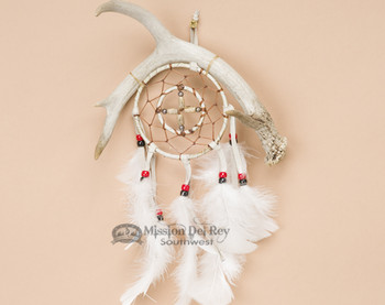 Navajo Dream Catcher Medicine Wheel Antler 4""
