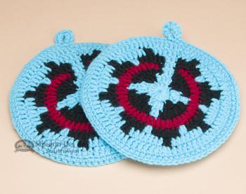 Navajo Pot Holder or Trivet Set