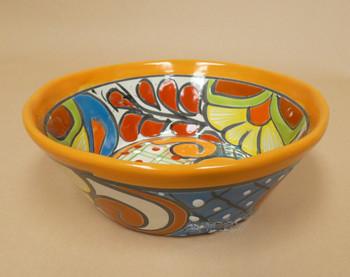 Southwest Talavera Salsa Bowl