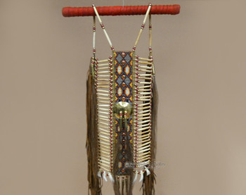 Native American warrior breast plate made by the Pueblo Indians.
