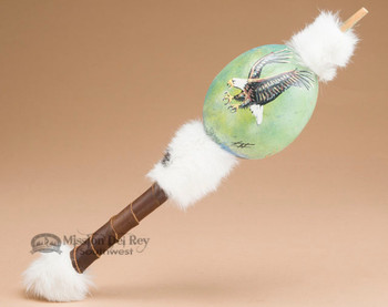 Hand Painted Southwest Gourd Rattle - Eagle