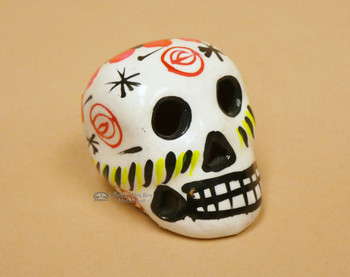 Hand Painted Day of the Dead Miniature Skull