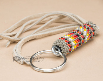 Native American Southwestern Beaded Keychain