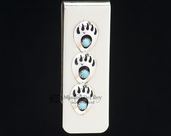 Southwestern Zuni Sterling Money Clip - Trio Paw