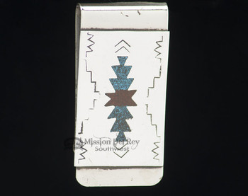 Navajo Indian Sterling Silver Money Clip
