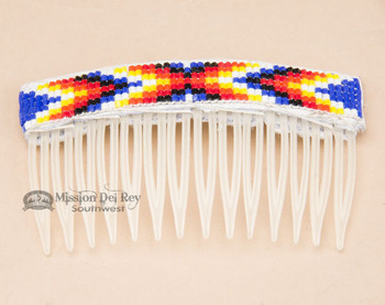 Navajo Beaded Hair Comb - Clear