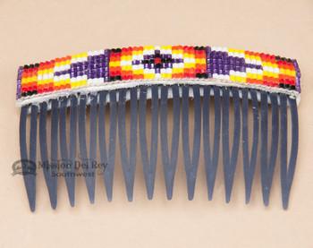Navajo Beaded Hair Comb - Blue