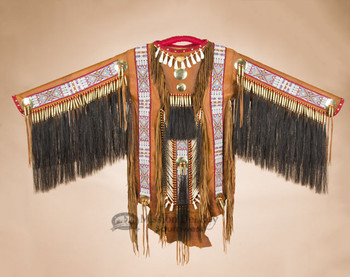 Native American Deer Skin Beaded War Shirt