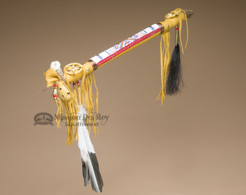 Native American Pueblo Antler Peace Pipe