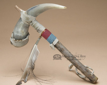 Native American Cow Horn Rattle