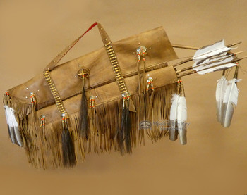 Native American Tigua Indian Elk Bow Case & Quiver Set