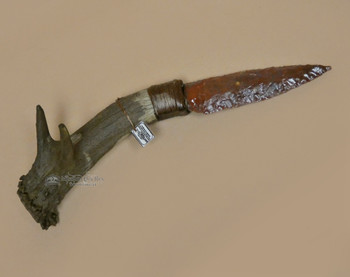 Antler Handle Creek Indian Stone Knife