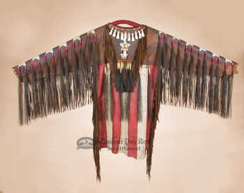 Tigua Indian War Shirt - Flag