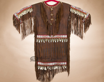Traditional Tigua Elk Hide Ceremonial Dress